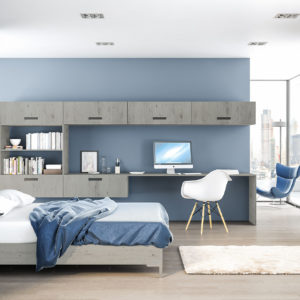 London Concrete Lazio Bedroom