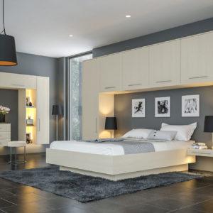 Oakgrain Cashmere Euroline Bedroom