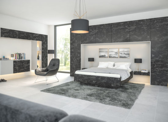 Zurfiz Oriental Black Bedroom